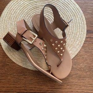 Michael Kors Slip-on Gold Stud Detailing Sandals